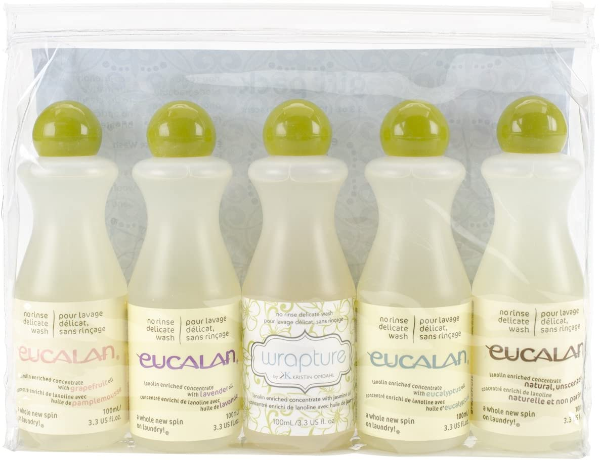 Eucalan Fine Fabric Wash Gift-Pack , 5 Pieces Per Pack , 3.3ounces each Bottle