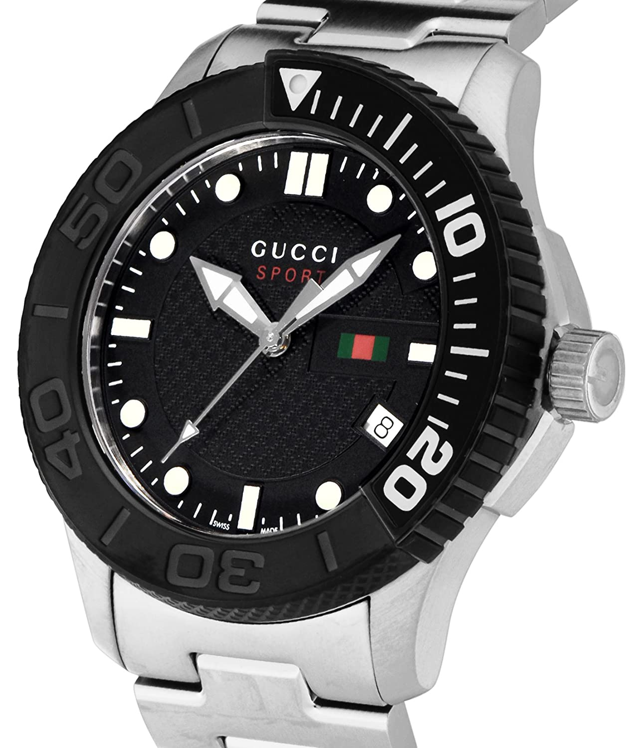9f217c426b4 GUCCI watch G-TIMELESS YA126249 black dial 100m water resistant Date   Amazon.ca  Watches