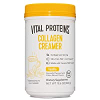 Vital Proteins Coffee Creamer, No Dairy Creamer for Coffee Powder with Collagen Peptides, Low Sugar for Supporting Healthy Hair, Skin, Nails with Energy-boosting MCTs - Vanilla 10.6oz
