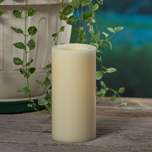 Sterno Home Premier All-Weather Wax Flameless LED Candle, 4-Inch by 8-Inch, Cream