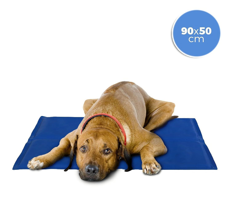 MEDIA WAVE store ® 37103 Cojín refrigerante 90x50 cm para perros grandes con gel refrescante