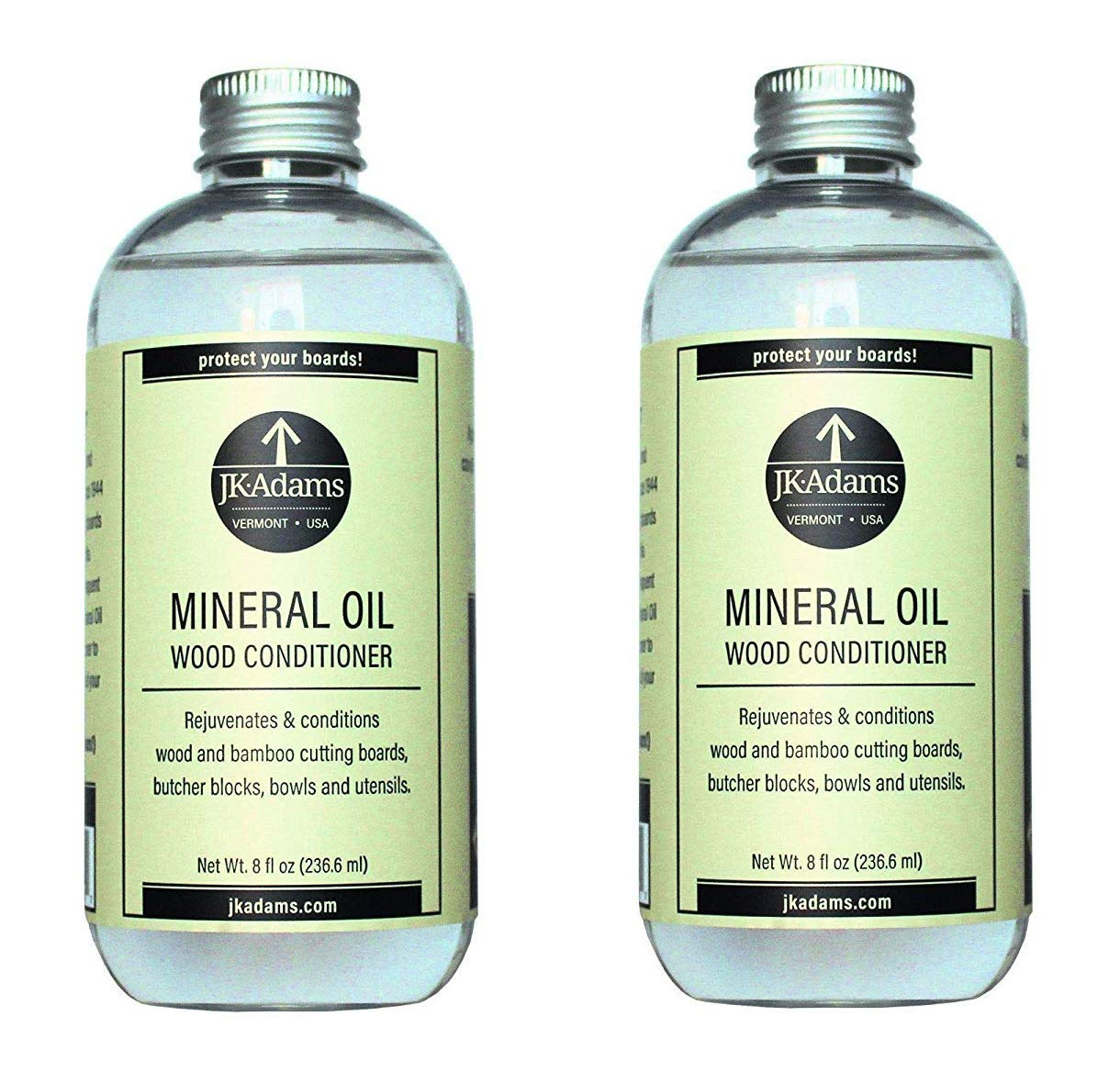 J.K. Adams 8-Ounce Mineral Oil Wood Conditioner (2-Pack)