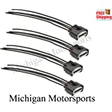 Michigan Motorsports Ignition Coil Connector Plug Harness qty 4 - Fits Toyota Lexus 4-way female 645-940
