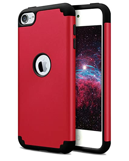 brand new d20f5 35893 Dailylux iPod Touch 6 Case,iPod Touch 5 Cases,Slim Dual Layer Protective  Case for Girls Boys Hybrid Hard Back Cover and Soft Silicone for Apple iPod  ...