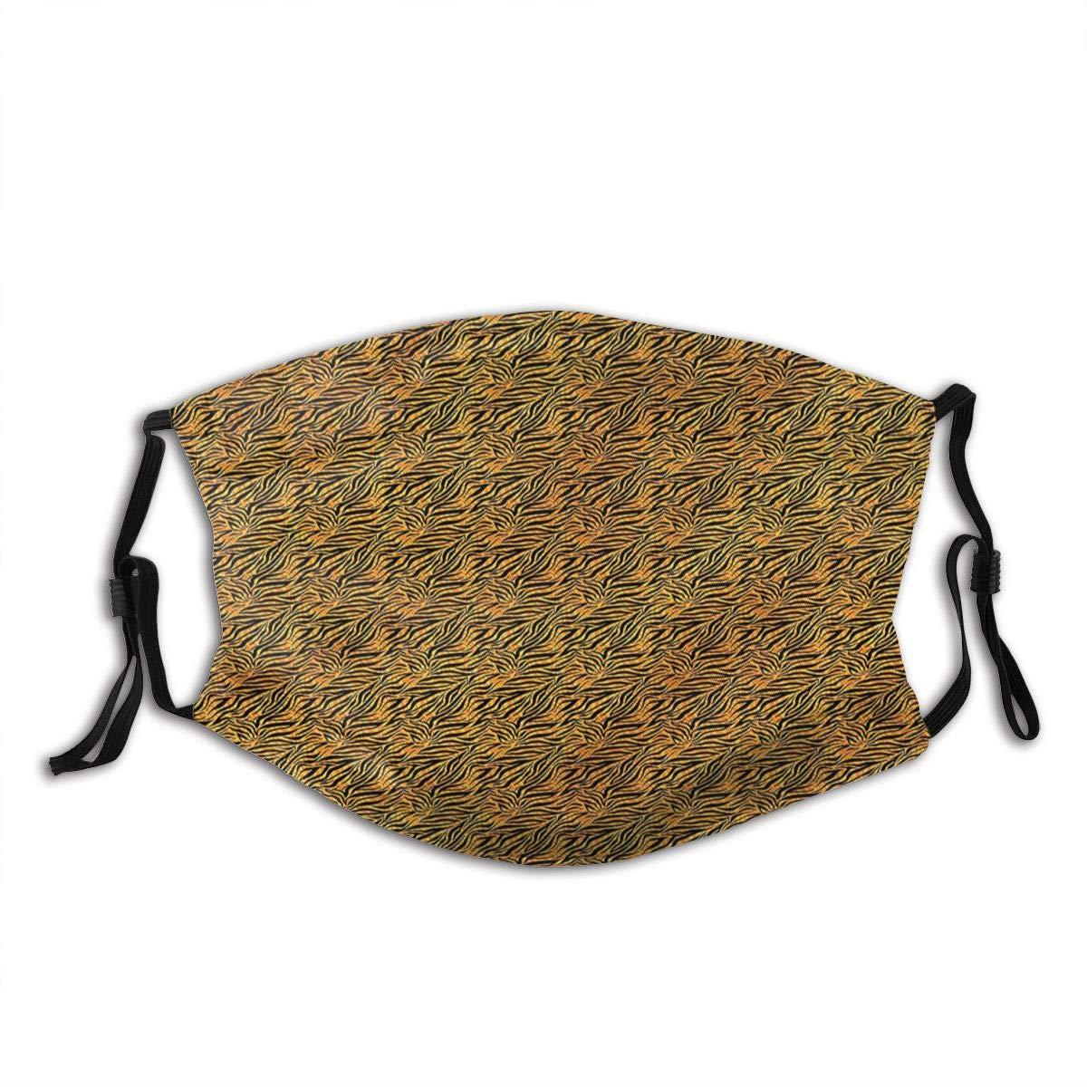 Cubierta de nariz reutilizable unisex Adorno tribal de piel de tigre africano Tapones para el polvo Tapones para los oídos ajustables con filtro reemplazable