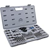 60-Piece Master Tap and Die Set - Include Both SAE Inch and Metric Sizes, Coarse and Fine Threads | Essential Threading and R
