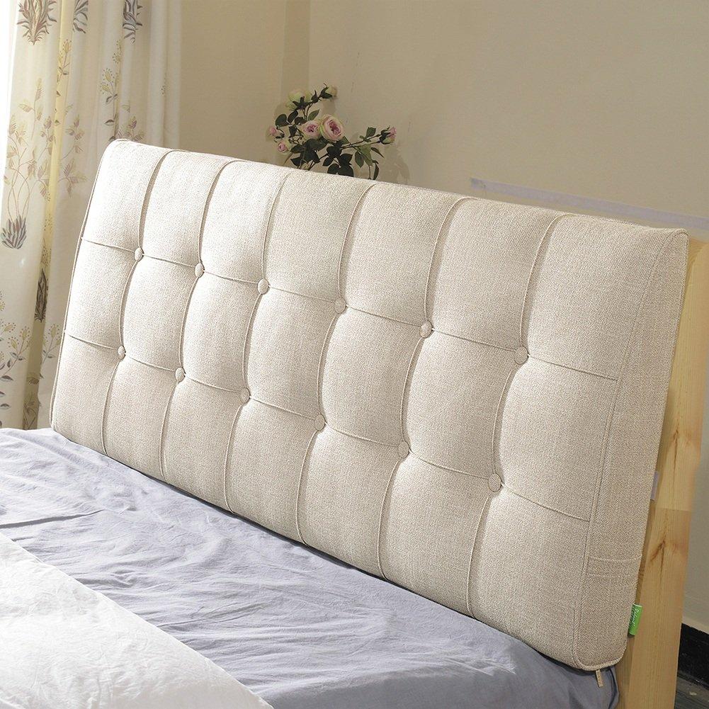 QIANGDA クッション ベッドの背もたれヘッドボードなし 壁に貼り付ける 大きなリネンウエストクッション シングル/ダブルベッドルーム、 ソリッドカラー8種類、 9種類のサイズ オプション ( 色 : 2# , サイズ さいず : 150x10x60cm ) B07B9Y9N4W 150x10x60cm|2# 2# 150x10x60cm