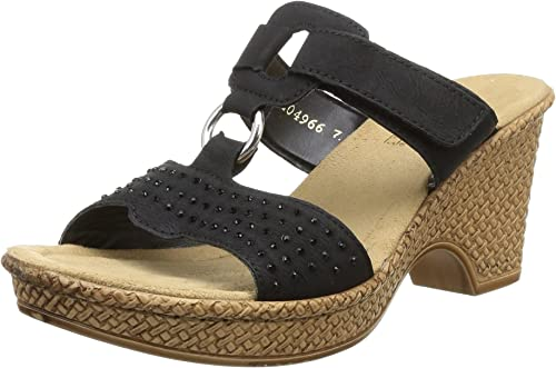 Reduzierte Damensandalen | Modische sandalen, Rieker