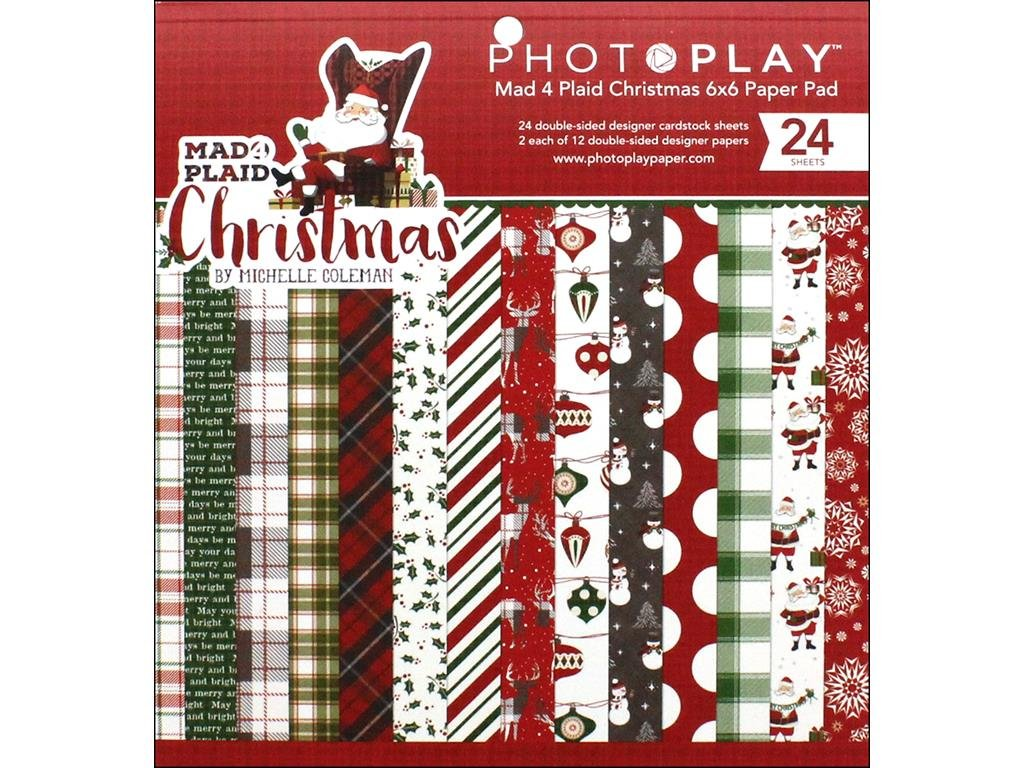 photo Play Paper M4P Christmas Paper Pad 6 x 6, 6-x-6-inch Photoplay MPC2877