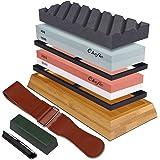 Whetstone Set Premium 2-in-1 Sharpening Stone 3000/8000 and 400/1000 Grit Waterstone Kit - Knife Sharpener Stone Set Safe Non