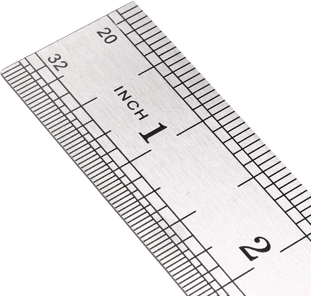 sourcing map Steel Ruler 12 Inches for Drawing Measuring in Centimeter Metal