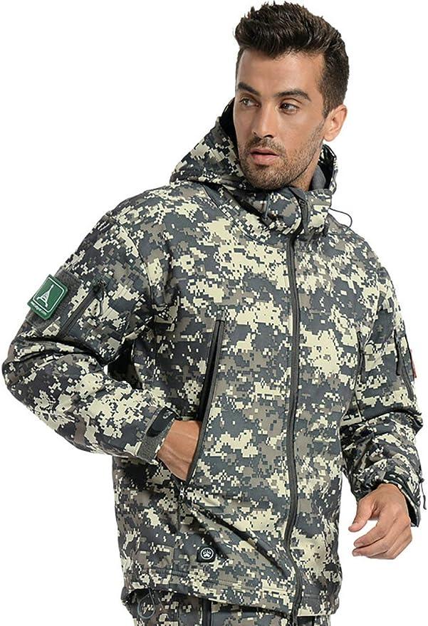 Men Winter Waterproof Military Hooded Jacket Outdoor Tactical Combat Coat Tops