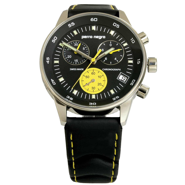 Herrenchronograph perro negro No. 1