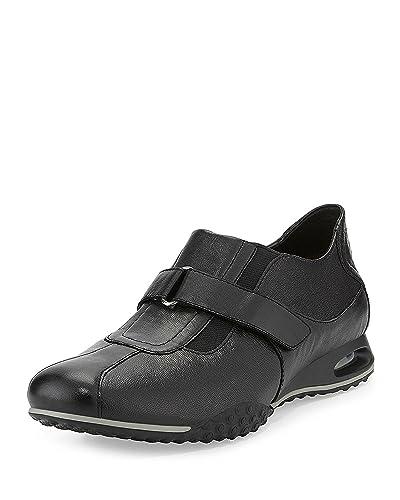 f525fda4d1 Cole Haan Men's Nike AIR Estadio Strap II Slip On Sneaker Black Leather ...