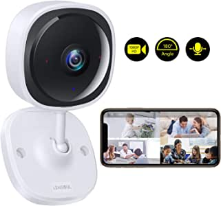 Lensoul Wireless Security Camera System 1080p Baby Monitor Home WiFi Surveillance Camera Indoor IP Camera for Pet with Night Vision, 2-Way Audio Motion Detection HD Video | Cloud Service Available