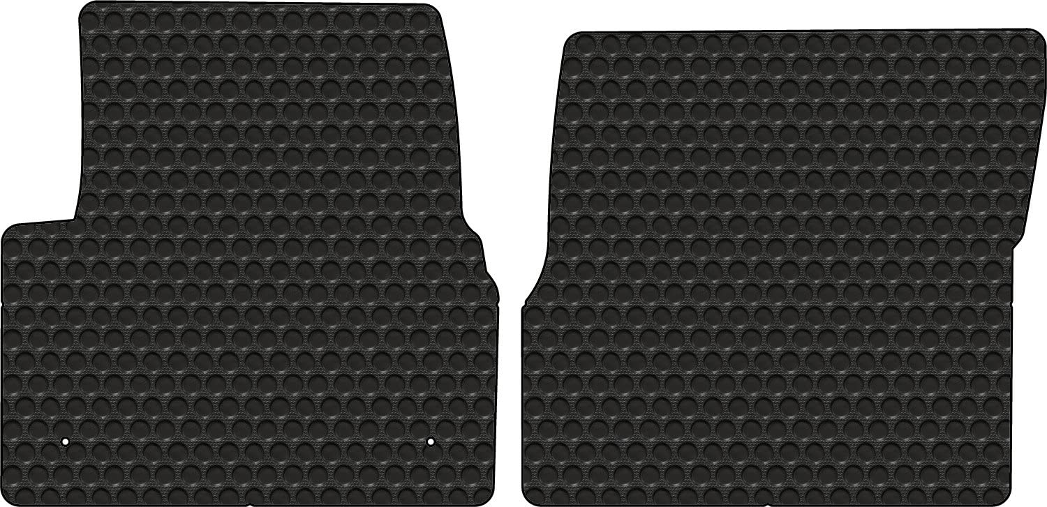 Volvo Truck VN VNL VT OEM Black Rubber Floor Mats W// White Logo Fits all 1998-2017