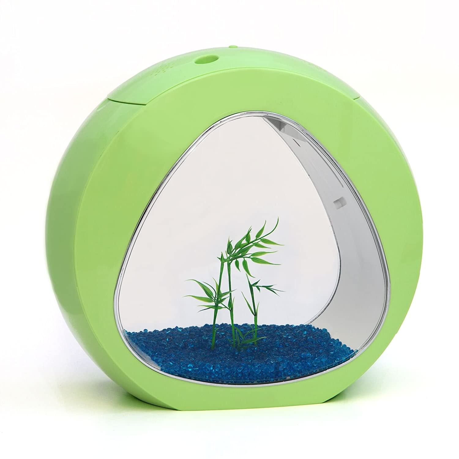Lime Green allpondsolutions Small Nano Curve Aquarium Fish Tank Coldwater Tropical LED Lighting, 13.5 Litre, Lime Green