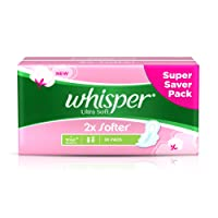 Whisper Ultra Soft Sanitary Pads Large  (30 Count)
