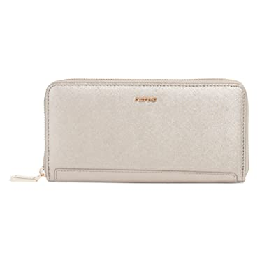 4f58e05c3 Parfois Basic Reptil Wallet for Women, Silver: Amazon.ae: Parfois