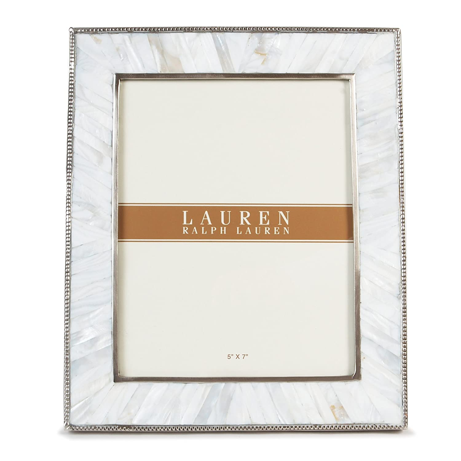 amazoncom lauren ralph lauren lauren pearl 5x7 silver frame mother of pearl photo frame - Mother Of Pearl Picture Frame