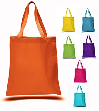 Amazon.com: Bright Color Sturdy Canvas Tote Bag 15
