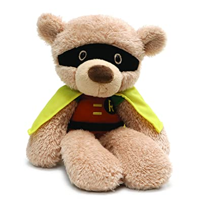 "GUND DC Comics Universe Fuzzy Robin Plush Stuffed Animal 14"": Toys & Games"