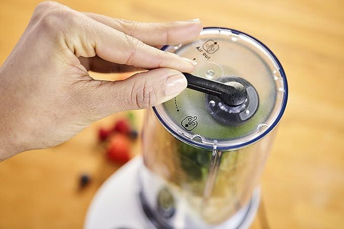 Moulinex LM180110 Batidora vaso personal con potencia 800 W, con sistema freshboost al vacío para evitar oxidación, con botella de 600 ml para llevar, ...