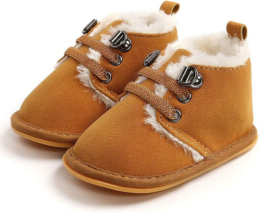 Infant Boots Winter Baby Girl Boy Shoes Rubber Sole Anti-Slip Toddler Snow Warm Prewalker Newborn Boots