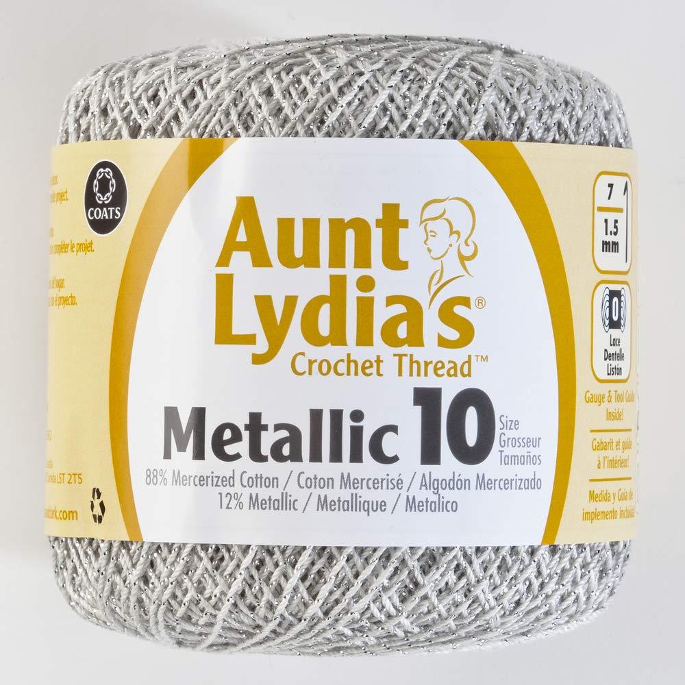Amazon.com: Coats Crochet 154M-0090G Metallic Crochet Thread, 10, Gold:  Arts, Crafts & Sewing