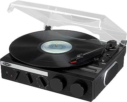 Amazon.com: Jensen - Tocadiscos estéreo de 3 velocidades con ...