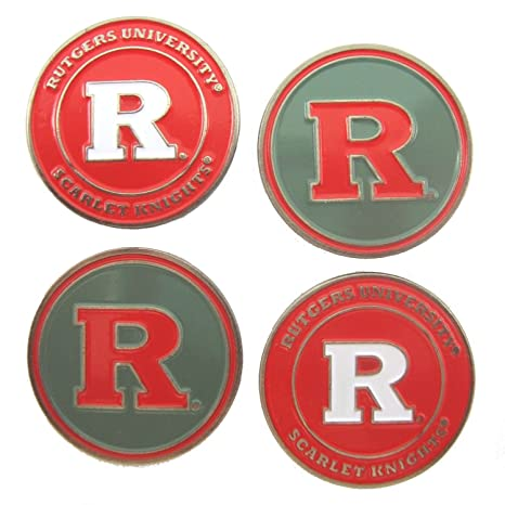 d363784624a Image Unavailable. Image not available for. Color  Rutgers Scarlet Knights Double  Sided Golf Ball Markers ...