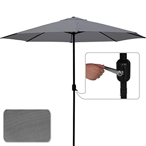 e0bfa4f2cfc3 ABCCANOPY Commercial Event Market Aluminum Umbrella 9 FT Patio Umbrella  with Push Button Tilt and Crank,Dark Gray-3