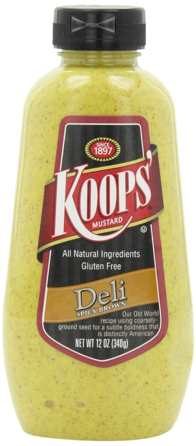 Koops Deli Style Spicy Brown Mustard, 12 Ounce - 12 Per Case