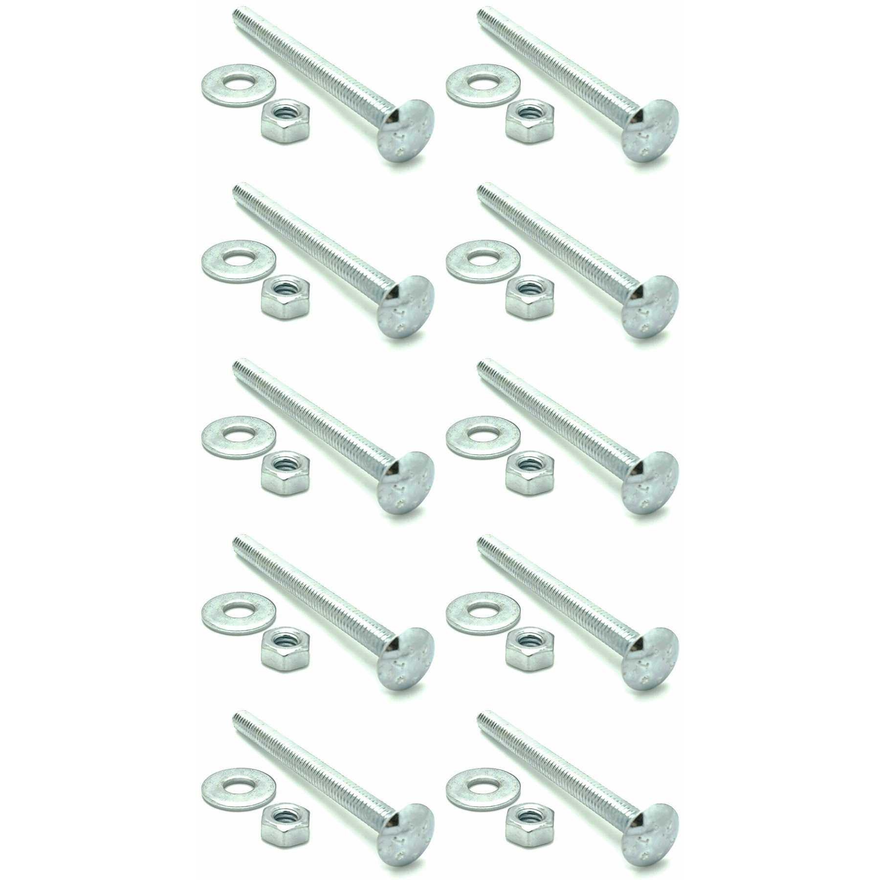 SNUG Fasteners (SNG328) Ten (10) 3/8-16 x 3'' Long Carriage Bolts Set w/Nuts & Washers by SNUG Fasteners (Image #1)