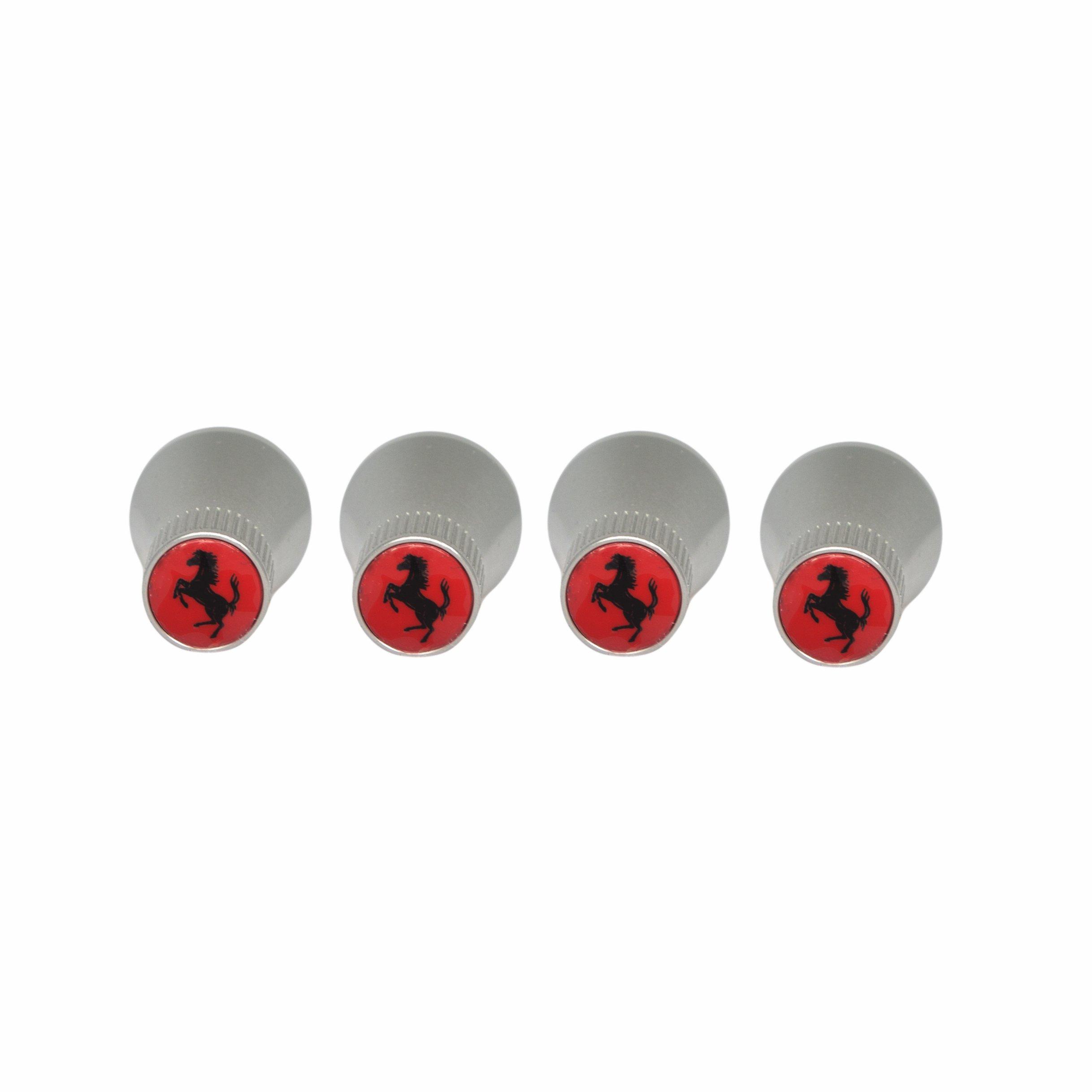 Ferrari Tire Valve Cone Caps/Stem Caps in Red