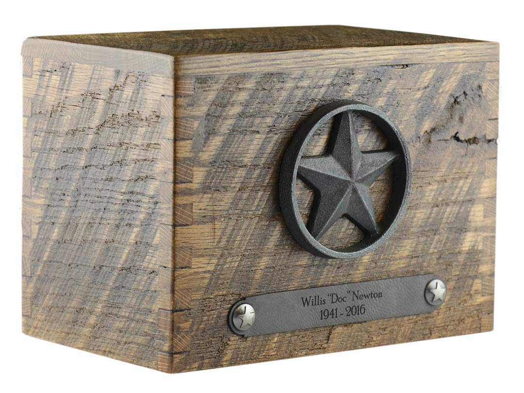 Reclaimed Barn Wood Cremation Funeral Urn for Human Ashes