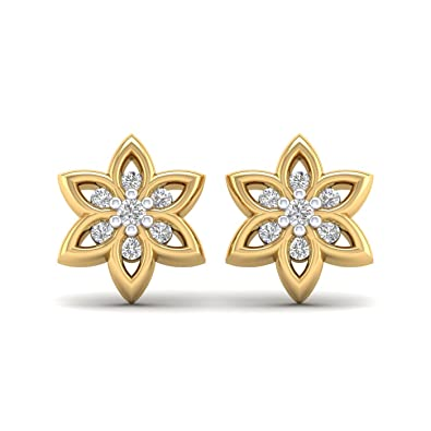 729a2c78b Image Unavailable. Image not available for. Color: 14K Yellow Gold Plated  Round AAA Cubic Zirconia sunflower Stud Earrings ...