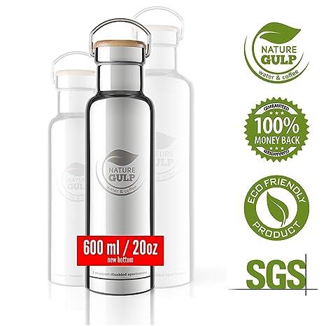 Nature Gulp - Botella de Agua con Aislamiento de Acero Inoxidable Caliente, 24-36 Horas (600-1000ml) Klean Kanteen