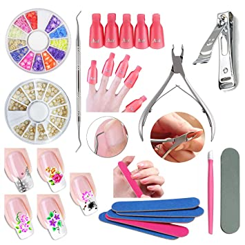 Amazon.com: Arte de Uñas Set de manicura Soak Off Cap Clip ...
