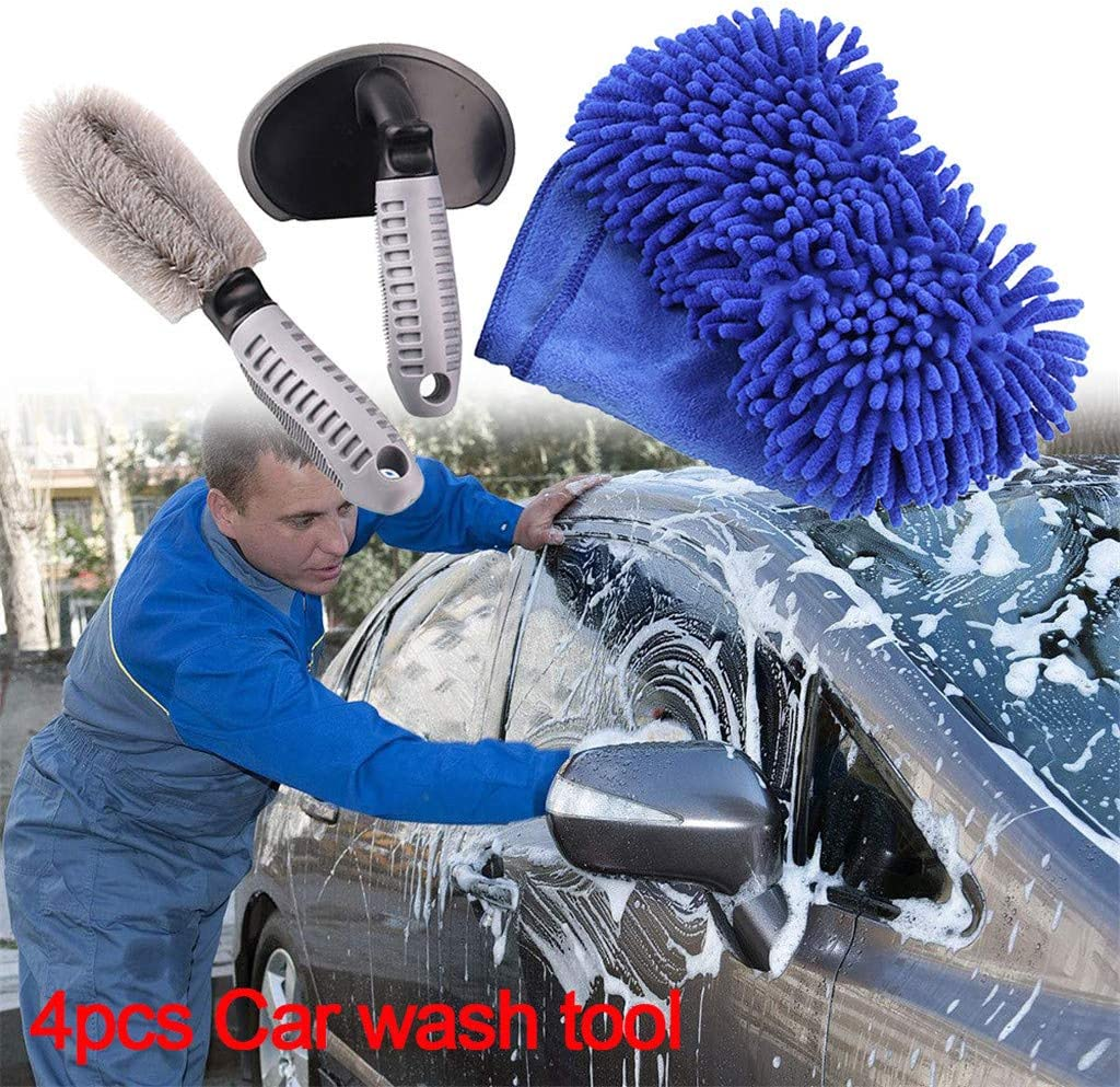 Car Wheel Tire Superfine Fiber Brush Car Truck Bicycle Washing Cleaning Tool Random