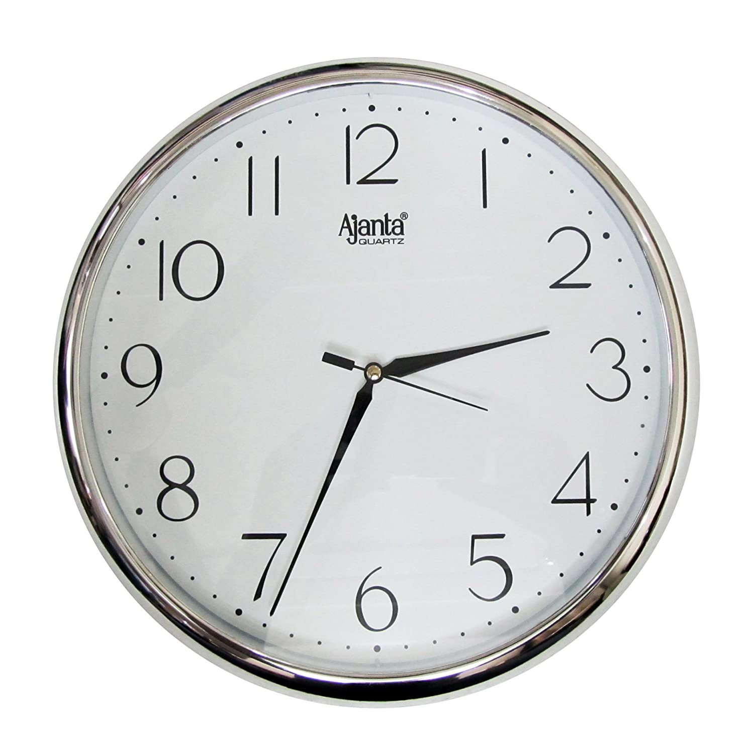 buy redclub ajanta quartz silver ring plastic wall clock silver white online at low prices in india amazonin