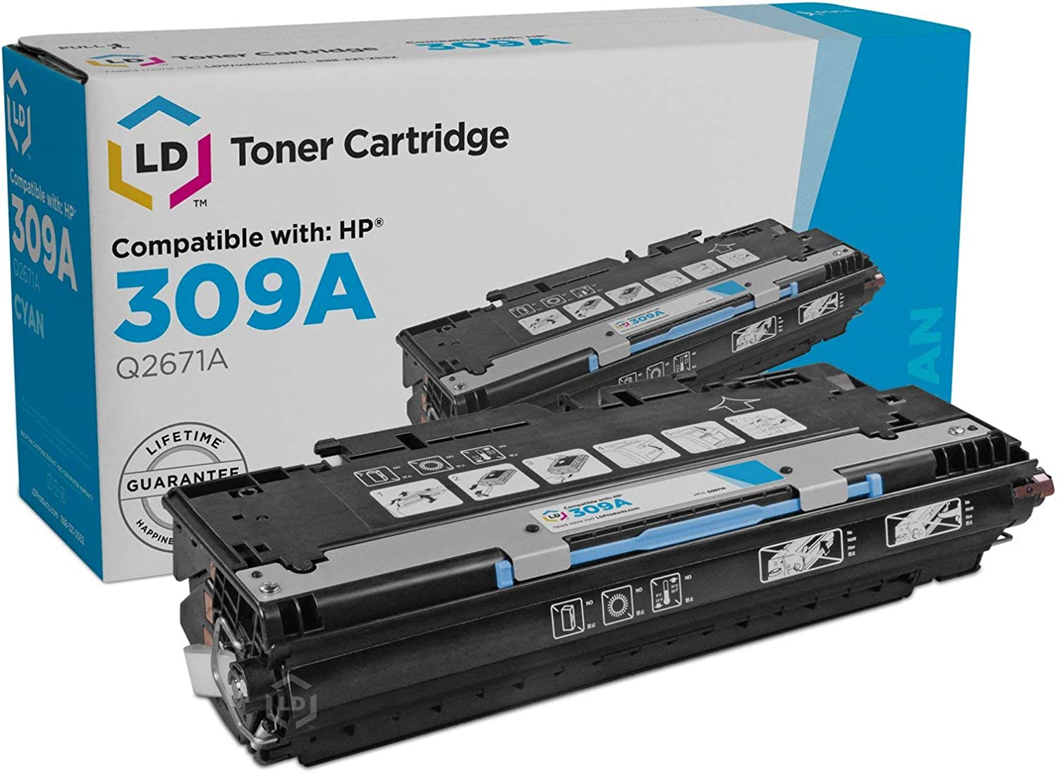 LD Remanufactured Toner Cartridge Replacement for HP 309A Q2671A (Cyan)