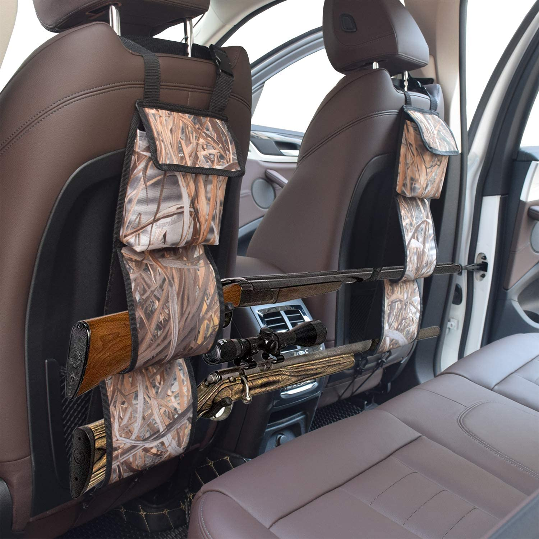 mydays Seat Back Gun Rack, Gun Sling Bag, Camo Front Seat Gun Organizer Holder for Hunting Rifles/Shotguns (Camo): Sports & Outdoors