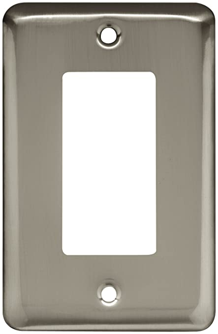 Brainerd 64127 St&ed Round Single Decorator Wall Plate Satin Nickel : decorator wall plates - pezcame.com