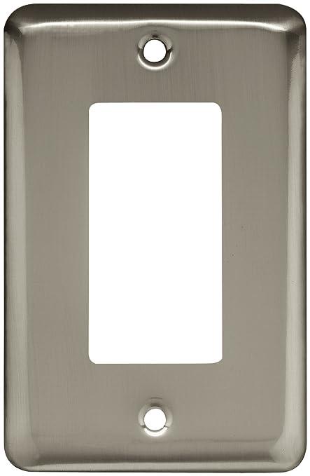 Brainerd 64127 St&ed Round Single Decorator Wall Plate Satin Nickel & Brainerd 64127 Stamped Round Single Decorator Wall Plate Satin ...