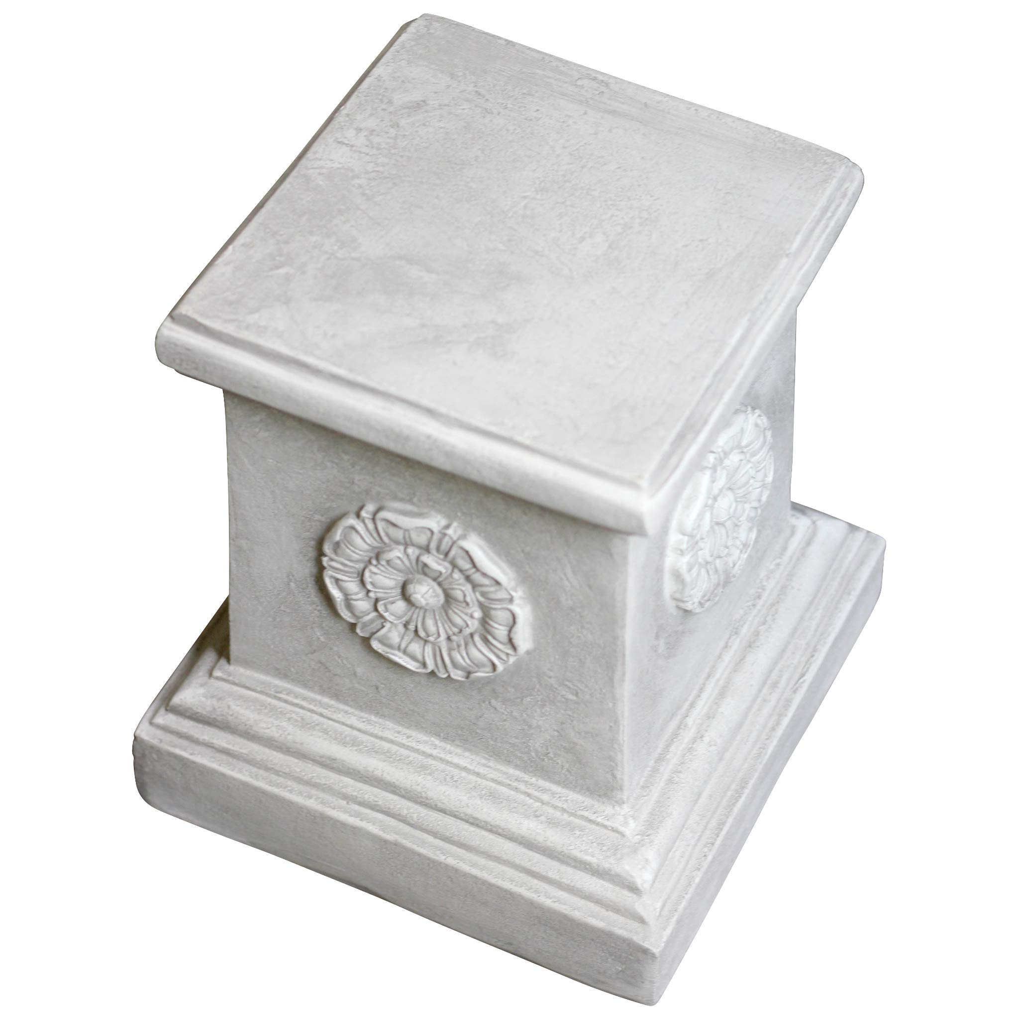 Design Toscano English Rosette Sculptural Garden Plinth Base Riser, Large 13 Inch, Polyresin, Antique Stone by Design Toscano (Image #4)