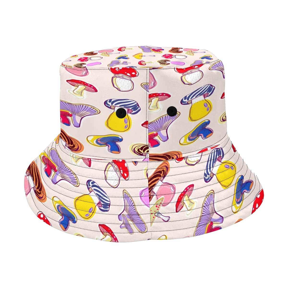 INTERESTPRINT Cute Mushrooms Unisex Bucket Hats