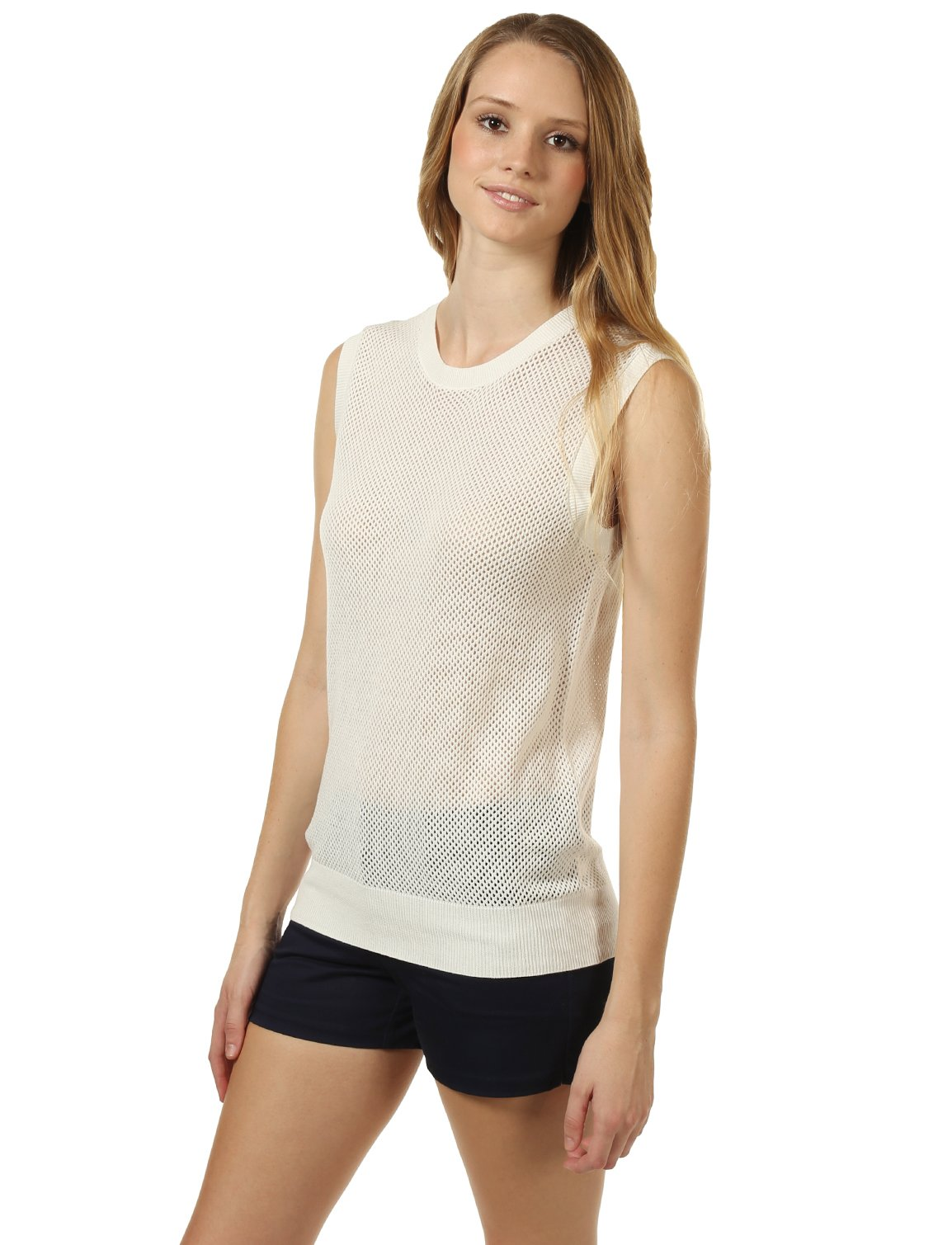 Mossimo Women's Open-Knit Sweater Vest M White