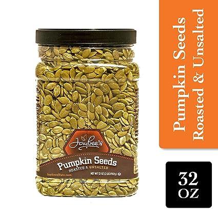 Jaybees Nuts Pepitas de semillas de calabaza – asados sin ...