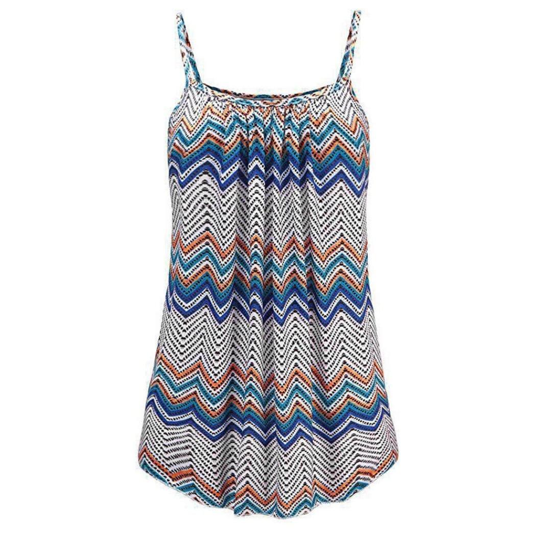 OSYARD Damen Sommer Printed Sleeveless Weste Bluse Tank Tops Camis Kleidung